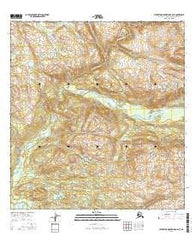 Talkeetna Mountains B-6 NE Alaska Current topographic map, 1:25000 scale, 7.5 X 7.5 Minute, Year 2016