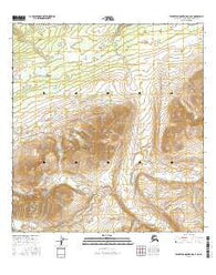 Talkeetna Mountains C-4 NE Alaska Current topographic map, 1:25000 scale, 7.5 X 7.5 Minute, Year 2016