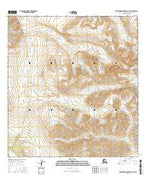 Talkeetna Mountains C-4 SE Alaska Current topographic map, 1:25000 scale, 7.5 X 7.5 Minute, Year 2016 from Alaska Map Store