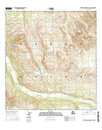 Talkeetna Mountains C-4 SW Alaska Current topographic map, 1:25000 scale, 7.5 X 7.5 Minute, Year 2016 from Alaska Map Store