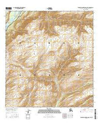 Talkeetna Mountains C-6 NE Alaska Current topographic map, 1:25000 scale, 7.5 X 7.5 Minute, Year 2016