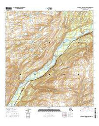 Talkeetna Mountains C-6 NW Alaska Current topographic map, 1:25000 scale, 7.5 X 7.5 Minute, Year 2016