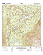Talkeetna Mountains D-1 SE Alaska Current topographic map, 1:25000 scale, 7.5 X 7.5 Minute, Year 2016 from Alaska Map Store