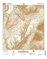 Talkeetna Mountains D-3 NE Alaska Current topographic map, 1:25000 scale, 7.5 X 7.5 Minute, Year 2016