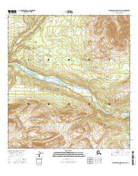 Talkeetna Mountains D-3 SE Alaska Current topographic map, 1:25000 scale, 7.5 X 7.5 Minute, Year 2016