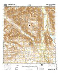 Talkeetna Mountains D-4 NE Alaska Current topographic map, 1:25000 scale, 7.5 X 7.5 Minute, Year 2016