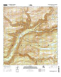 Talkeetna Mountains D-4 SE Alaska Current topographic map, 1:25000 scale, 7.5 X 7.5 Minute, Year 2016