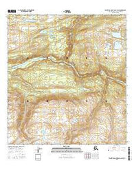 Talkeetna Mountains D-5 SW Alaska Current topographic map, 1:25000 scale, 7.5 X 7.5 Minute, Year 2016