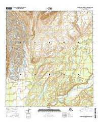 Talkeetna Mountains D-6 NW Alaska Current topographic map, 1:25000 scale, 7.5 X 7.5 Minute, Year 2016