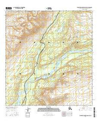 Talkeetna Mountains D-6 SE Alaska Current topographic map, 1:25000 scale, 7.5 X 7.5 Minute, Year 2016