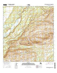 Talkeetna Mountains D-6 SW Alaska Current topographic map, 1:25000 scale, 7.5 X 7.5 Minute, Year 2016