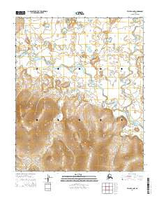 Teller B-2 NW Alaska Current topographic map, 1:25000 scale, 7.5 X 7.5 Minute, Year 2014