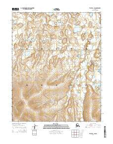 Teller D-1 NW Alaska Current topographic map, 1:25000 scale, 7.5 X 7.5 Minute, Year 2014