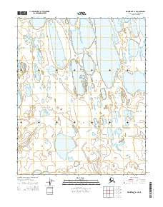 Wainwright A-1 NE Alaska Current topographic map, 1:25000 scale, 7.5 X 7.5 Minute, Year 2014