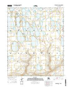 Wainwright A-1 NW Alaska Current topographic map, 1:25000 scale, 7.5 X 7.5 Minute, Year 2014