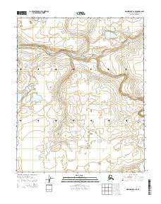 Wainwright A-1 SE Alaska Current topographic map, 1:25000 scale, 7.5 X 7.5 Minute, Year 2014