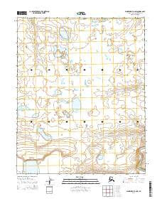 Wainwright A-2 SW Alaska Current topographic map, 1:25000 scale, 7.5 X 7.5 Minute, Year 2014