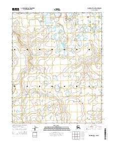 Wainwright A-3 NW Alaska Current topographic map, 1:25000 scale, 7.5 X 7.5 Minute, Year 2014