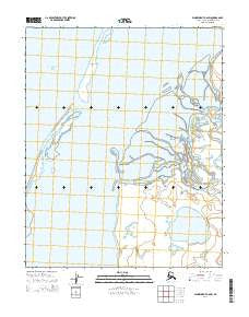 Wainwright A-6 SW Alaska Current topographic map, 1:25000 scale, 7.5 X 7.5 Minute, Year 2014
