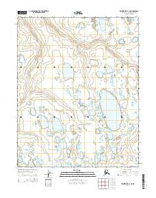 Wainwright B-1 NE Alaska Current topographic map, 1:25000 scale, 7.5 X 7.5 Minute, Year 2014