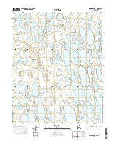 Wainwright B-1 SE Alaska Current topographic map, 1:25000 scale, 7.5 X 7.5 Minute, Year 2014