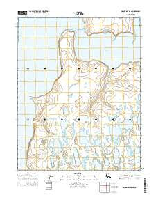 Wainwright B-2 NE Alaska Current topographic map, 1:25000 scale, 7.5 X 7.5 Minute, Year 2014