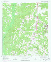 Abbeville West Alabama Historical topographic map, 1:24000 scale, 7.5 X 7.5 Minute, Year 1969
