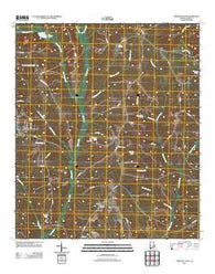 Abbeville East Alabama Historical topographic map, 1:24000 scale, 7.5 X 7.5 Minute, Year 2011