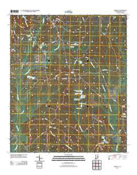 Aberfoil Alabama Historical topographic map, 1:24000 scale, 7.5 X 7.5 Minute, Year 2011