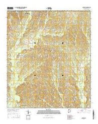 Aberfoil Alabama Current topographic map, 1:24000 scale, 7.5 X 7.5 Minute, Year 2014