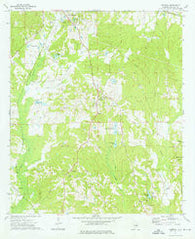 Aberfoil Alabama Historical topographic map, 1:24000 scale, 7.5 X 7.5 Minute, Year 1973
