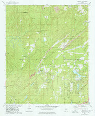 Abernant Alabama Historical topographic map, 1:24000 scale, 7.5 X 7.5 Minute, Year 1980