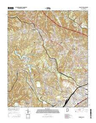Adamsville Alabama Current topographic map, 1:24000 scale, 7.5 X 7.5 Minute, Year 2014