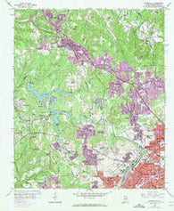 Adamsville Alabama Historical topographic map, 1:24000 scale, 7.5 X 7.5 Minute, Year 1959