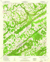 Altoona Alabama Historical topographic map, 1:24000 scale, 7.5 X 7.5 Minute, Year 1958