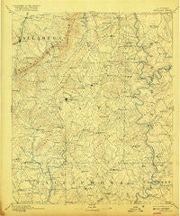 Ashland Alabama Historical topographic map, 1:125000 scale, 30 X 30 Minute, Year 1891