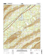 Ashville Alabama Current topographic map, 1:24000 scale, 7.5 X 7.5 Minute, Year 2014 from Alabama Maps Store