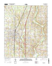 Athens Alabama Current topographic map, 1:24000 scale, 7.5 X 7.5 Minute, Year 2014 from Alabama Maps Store