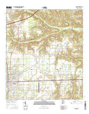 Atmore Alabama Current topographic map, 1:24000 scale, 7.5 X 7.5 Minute, Year 2014 from Alabama Maps Store