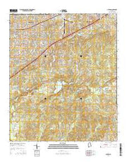 Auburn Alabama Current topographic map, 1:24000 scale, 7.5 X 7.5 Minute, Year 2014 from Alabama Maps Store