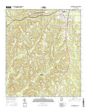 Bay Minette South Alabama Current topographic map, 1:24000 scale, 7.5 X 7.5 Minute, Year 2014 from Alabama Maps Store