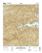 Beulah Alabama Current topographic map, 1:24000 scale, 7.5 X 7.5 Minute, Year 2014 from Alabama Map Store