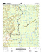 Bilbo Island Alabama Current topographic map, 1:24000 scale, 7.5 X 7.5 Minute, Year 2014 from Alabama Map Store