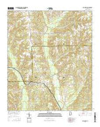Billingsley Alabama Current topographic map, 1:24000 scale, 7.5 X 7.5 Minute, Year 2014 from Alabama Map Store