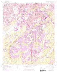 Birmingham South Alabama Historical topographic map, 1:24000 scale, 7.5 X 7.5 Minute, Year 1959