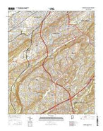 Birmingham South Alabama Current topographic map, 1:24000 scale, 7.5 X 7.5 Minute, Year 2014 from Alabama Map Store