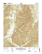 Bishop Alabama Current topographic map, 1:24000 scale, 7.5 X 7.5 Minute, Year 2014 from Alabama Map Store