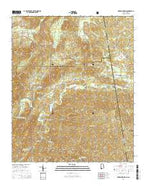 Borden Springs Alabama Current topographic map, 1:24000 scale, 7.5 X 7.5 Minute, Year 2014 from Alabama Map Store