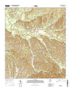 Braggs Alabama Current topographic map, 1:24000 scale, 7.5 X 7.5 Minute, Year 2014 from Alabama Map Store