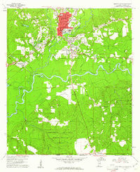 Brewton South Alabama Historical topographic map, 1:24000 scale, 7.5 X 7.5 Minute, Year 1960